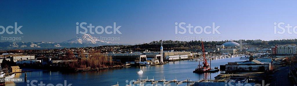 Thea Foss Waterway, Tacoma, Washington, United States stock photo
