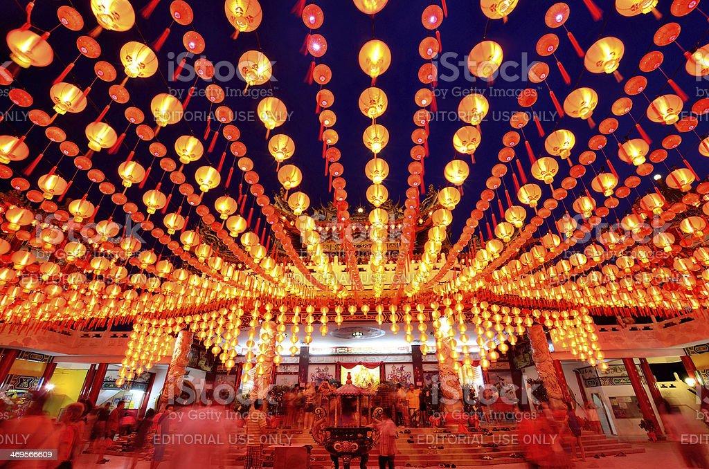 Thean Hou Temple Kuala Lumpur stock photo
