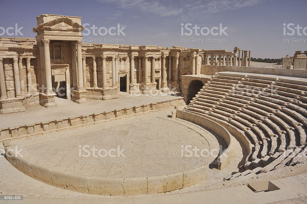 Theater at Palmyra stock photo