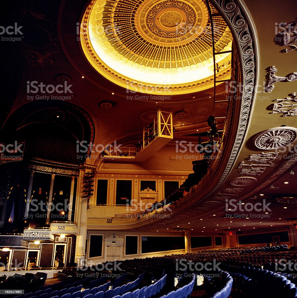 Theater balcony and seating stock photo