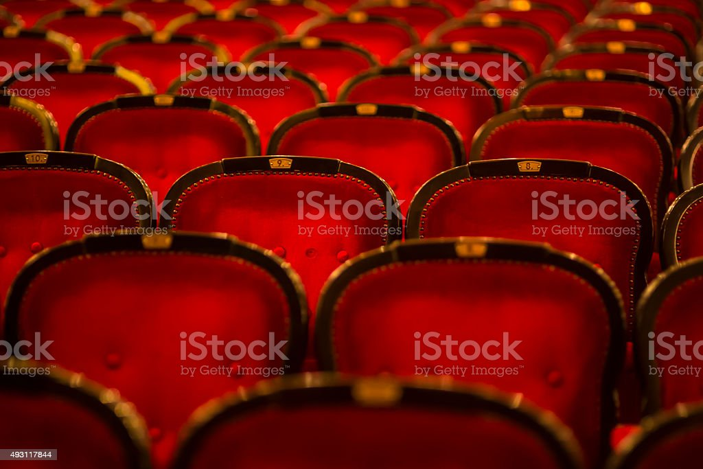 theater chairs stock photo