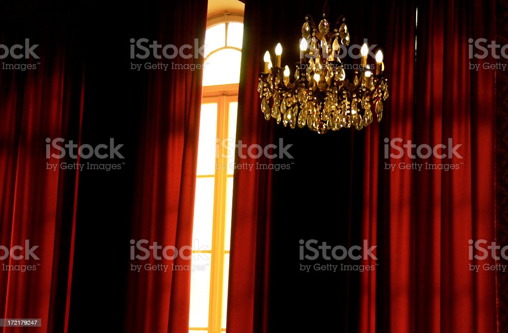 Theater chandelier royalty-free stock photo