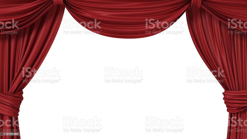 Theater curtain stock photo
