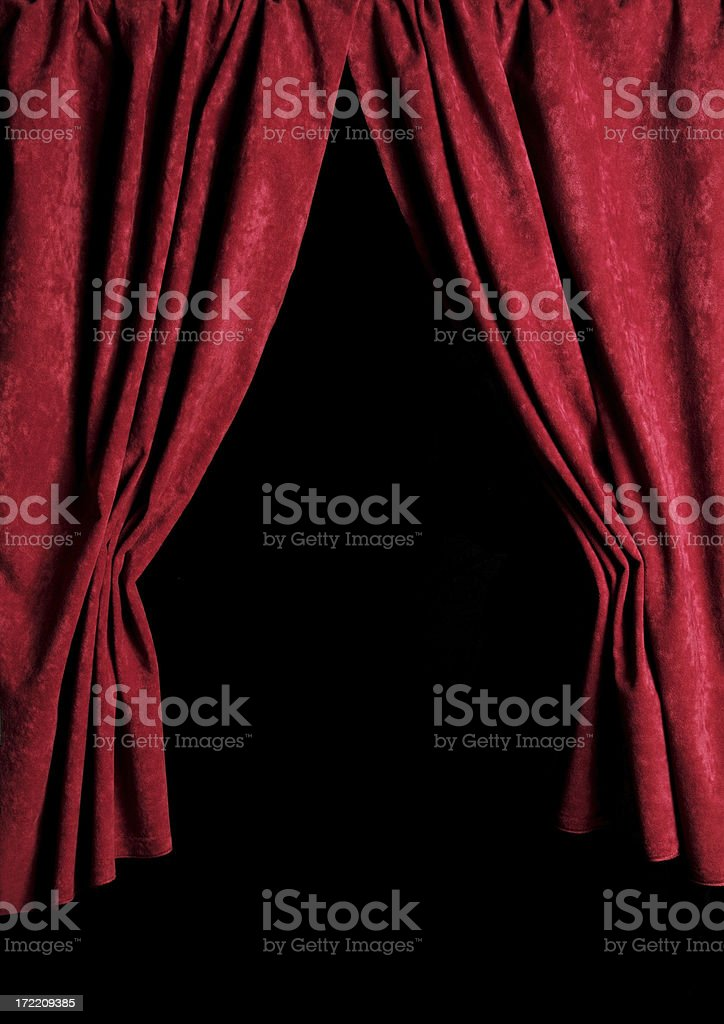 Theater Curtains royalty-free stock photo