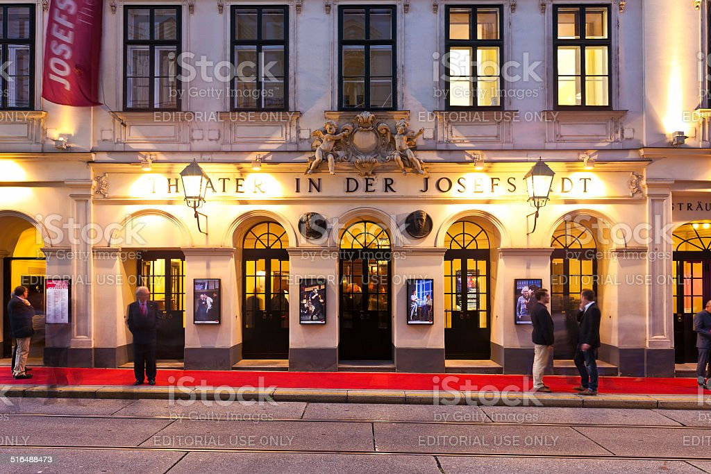 Theater in der Josefstadt of Vienna stock photo