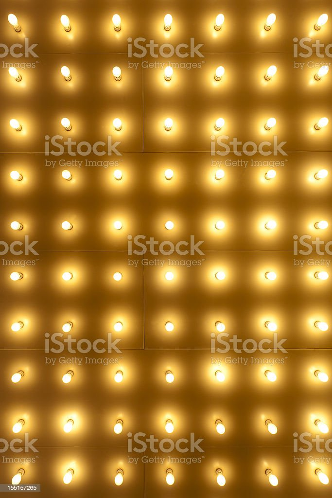 Theater Lights on the Chicago Theatre stock photo