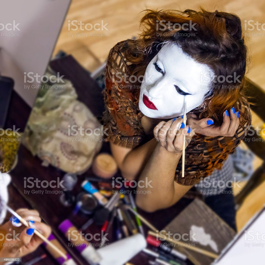 Theater make up stock photo