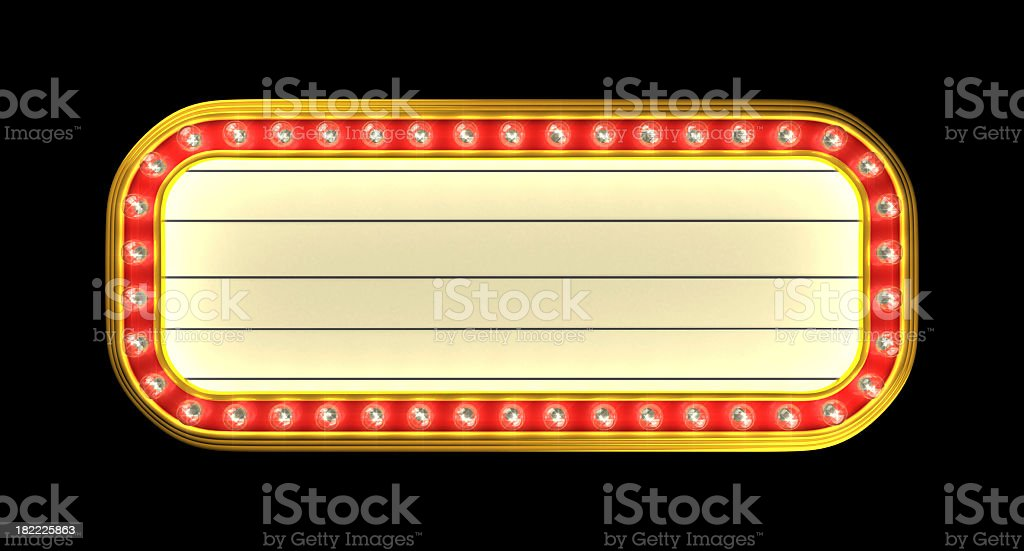Theater Marquee stock photo