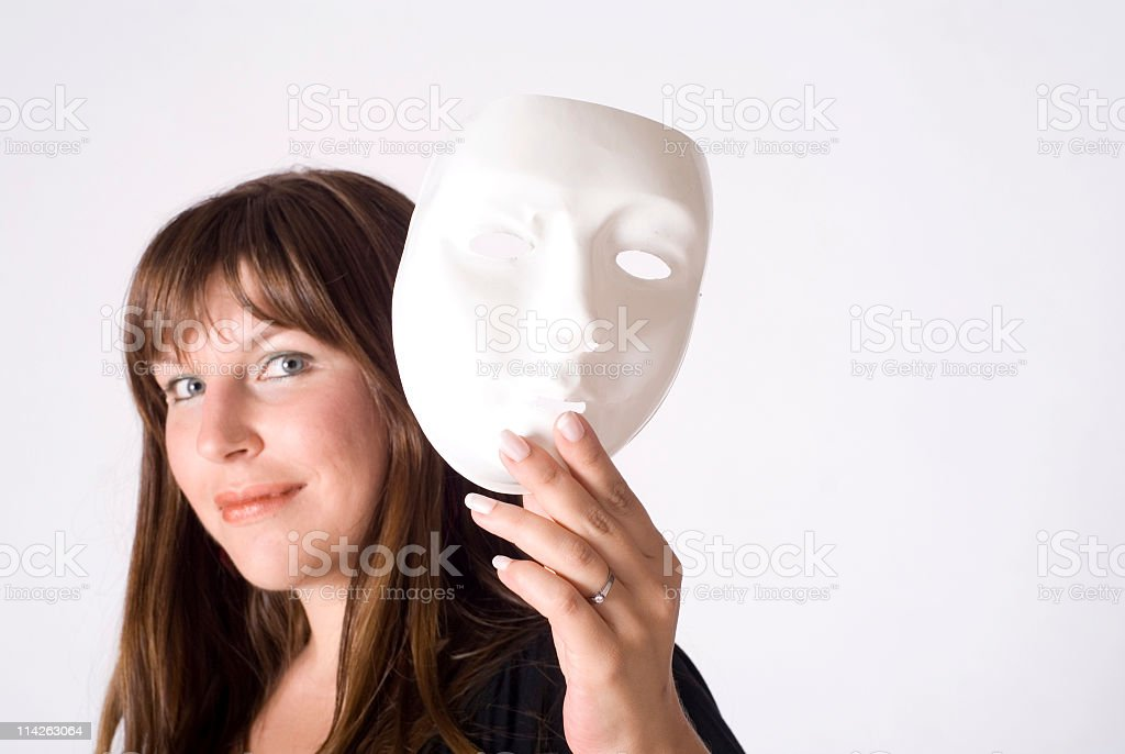 Theater mask royalty-free stock photo