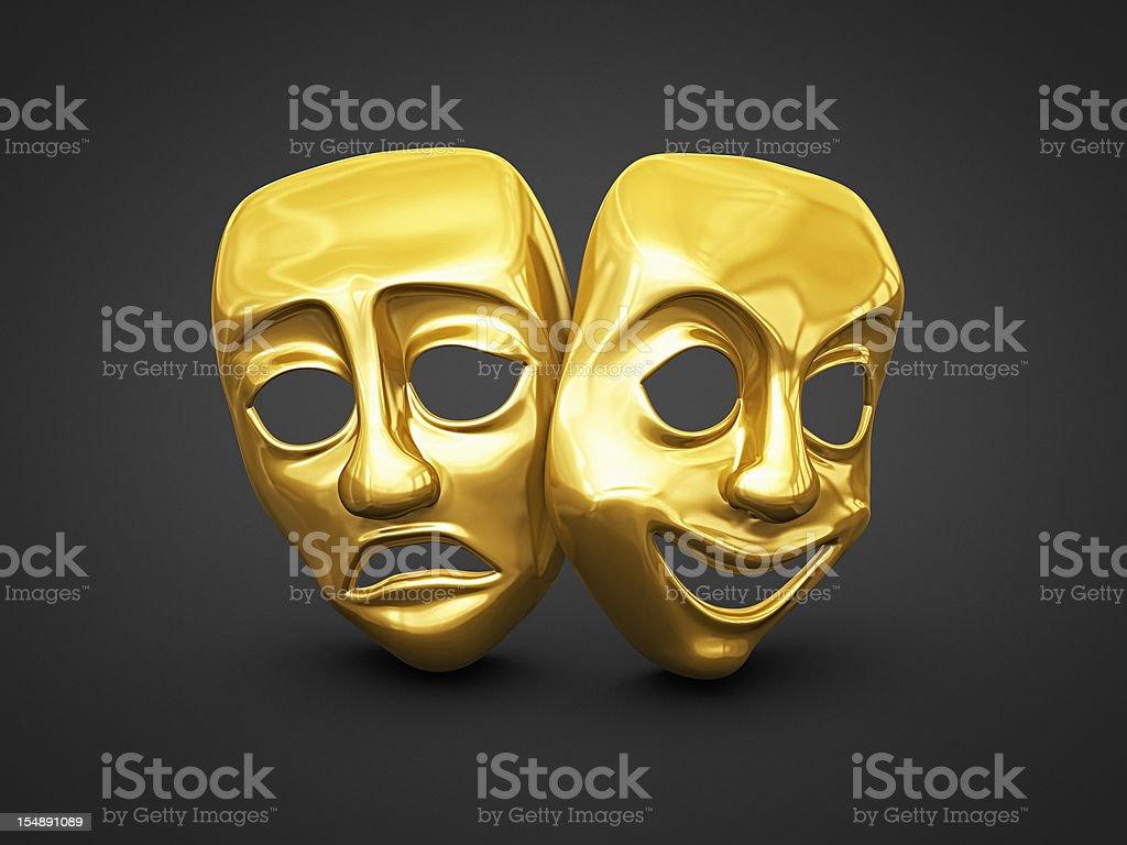 theater masks stock photo
