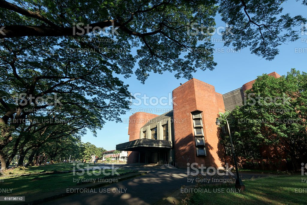 UP Theater (Villamor Hall), Metro Manila - Philippines stock photo