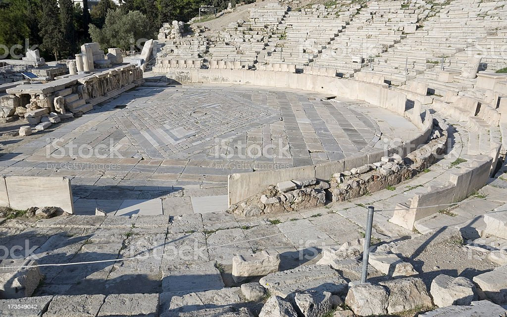 Theater of Dionysos royalty-free stock photo