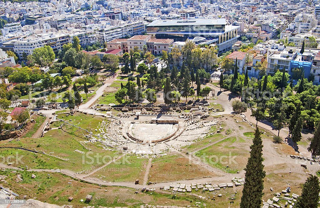 Theater of Dionysus, Athens, Greece stock photo