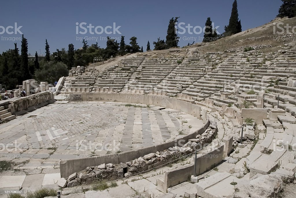 Theater of Dionysus stock photo