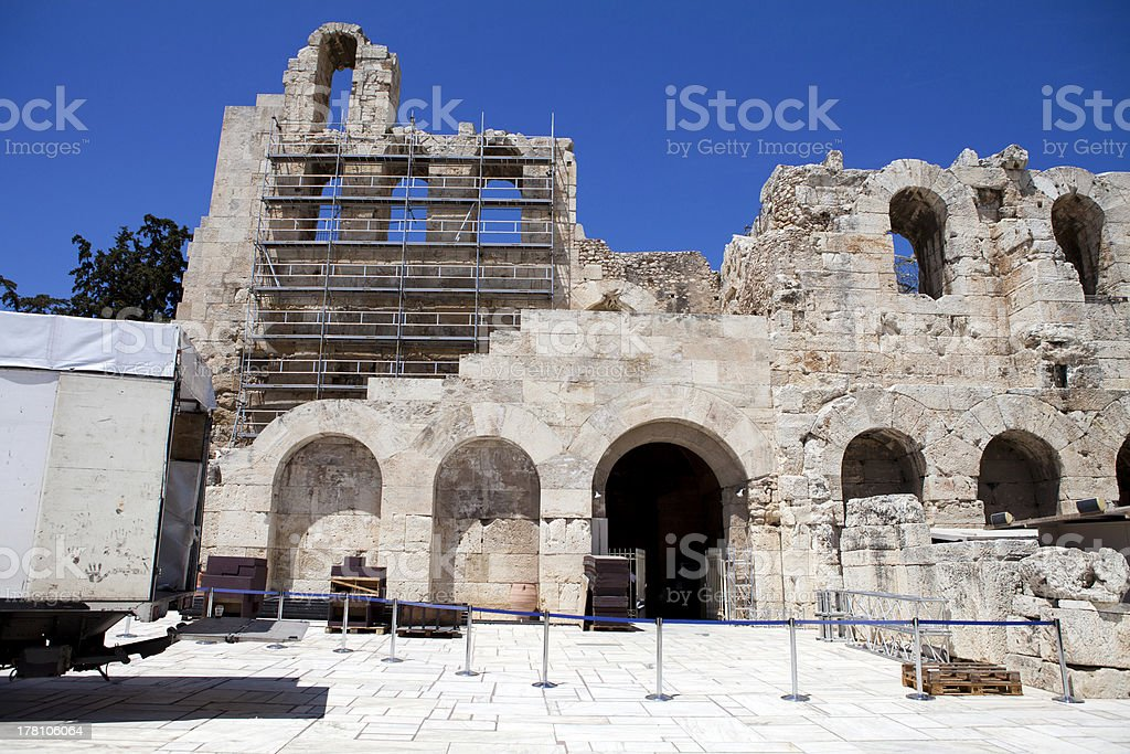 Theater Of Herodes Atticus stock photo