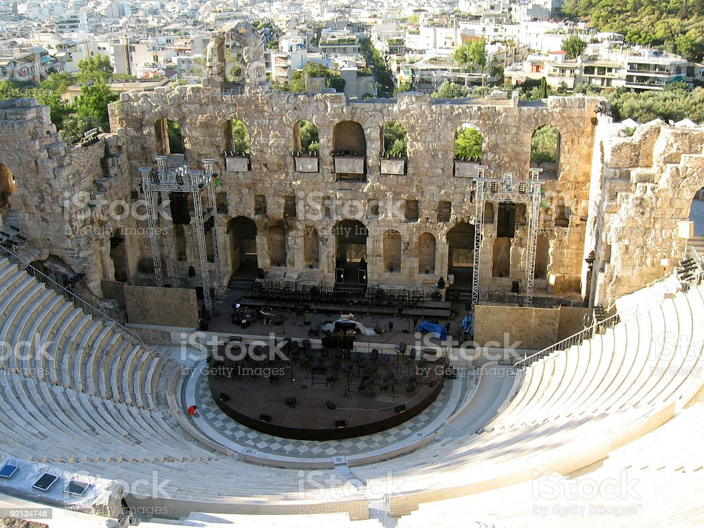 Theater Of Herodes Atticus stock photo