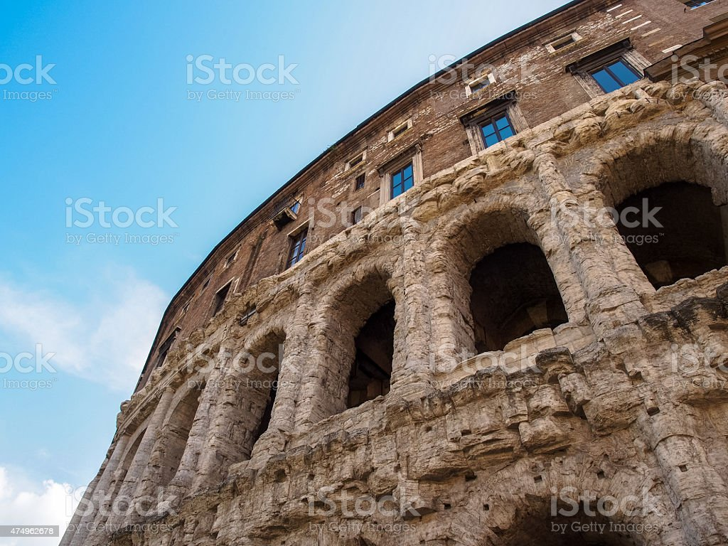 Theater of Marcellus stock photo