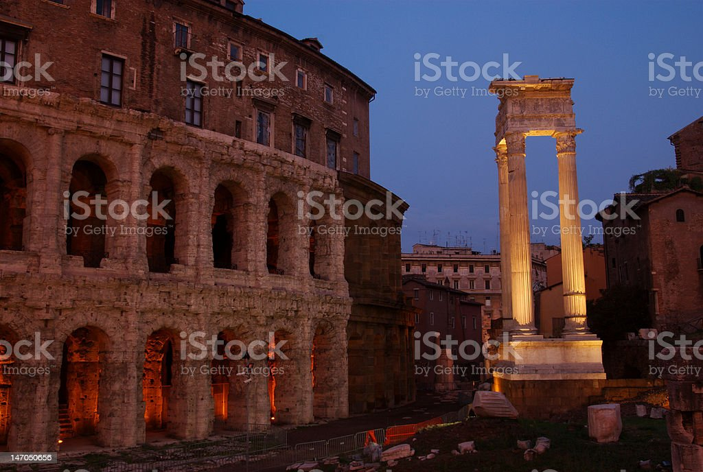 Theater of Marcellus, Rome, Italy stock photo