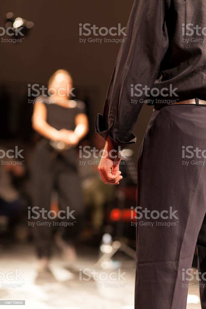 theater play stock photo