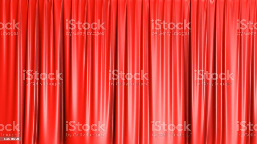 Theater red curtain stock photo