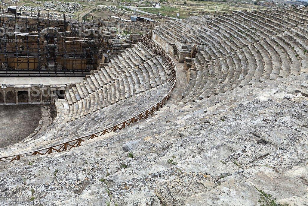 Theater ruins in Hieropolis, Pamukkale royalty-free stock photo