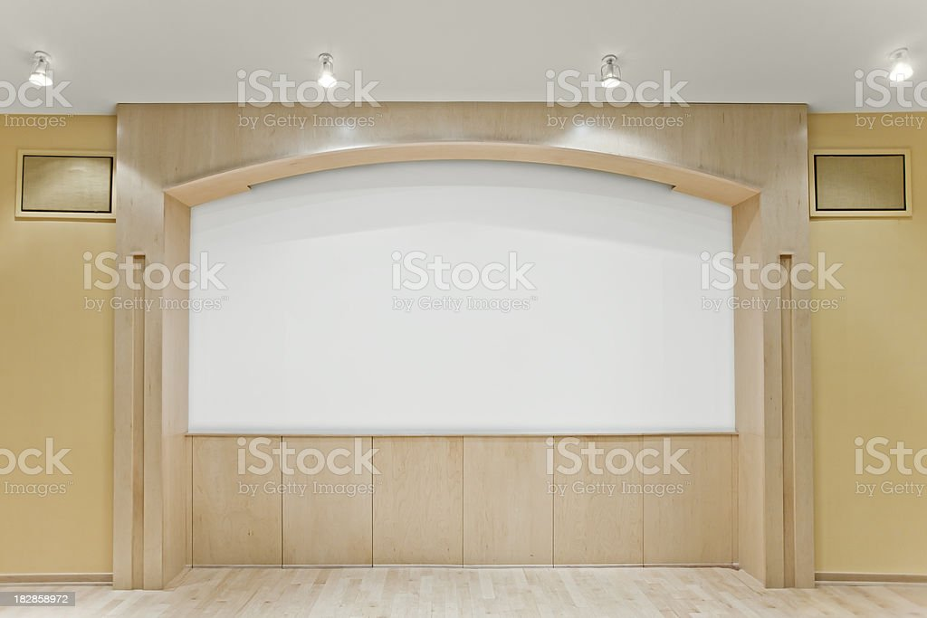 Theater Screen royalty-free stock photo