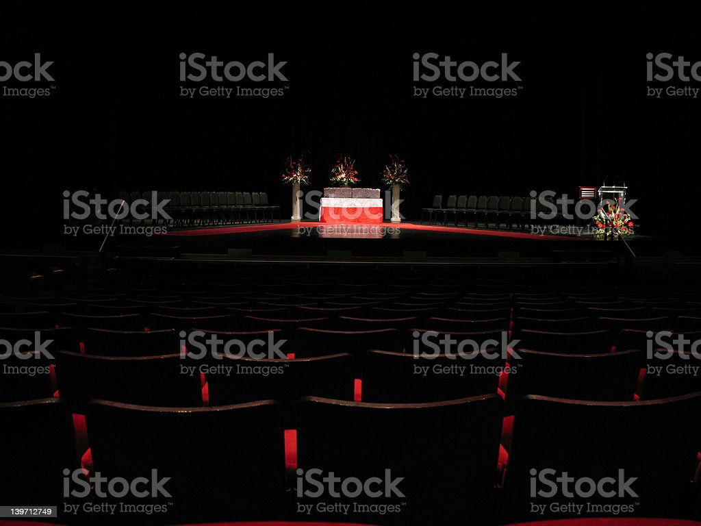 Theater Seats and Stage royalty-free stock photo