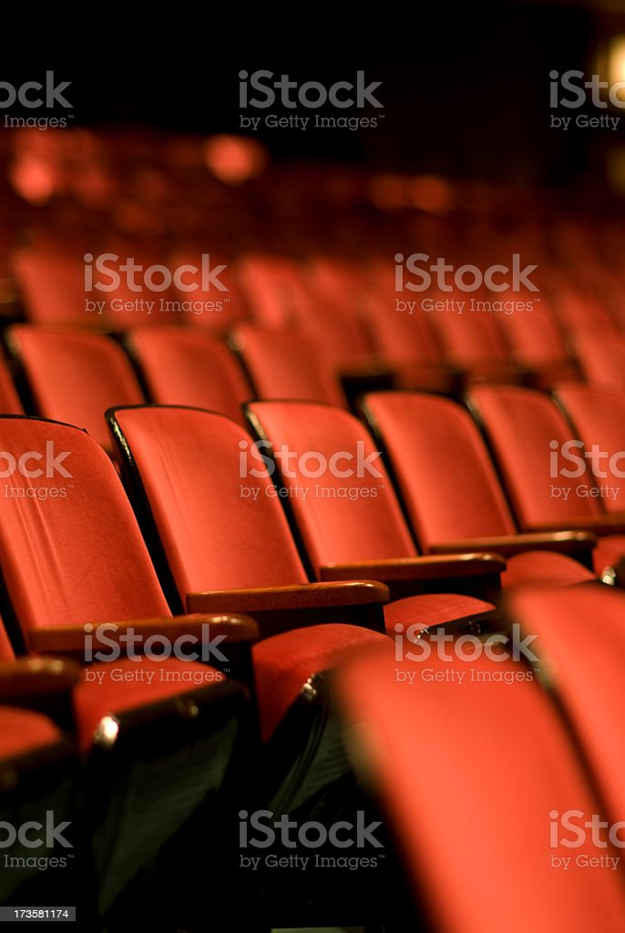 Theater seats in an empty Theater royalty-free stock photo