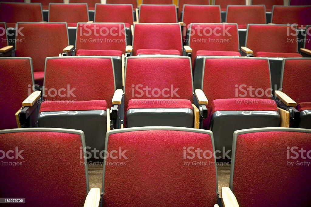 Theater Seats royalty-free stock photo