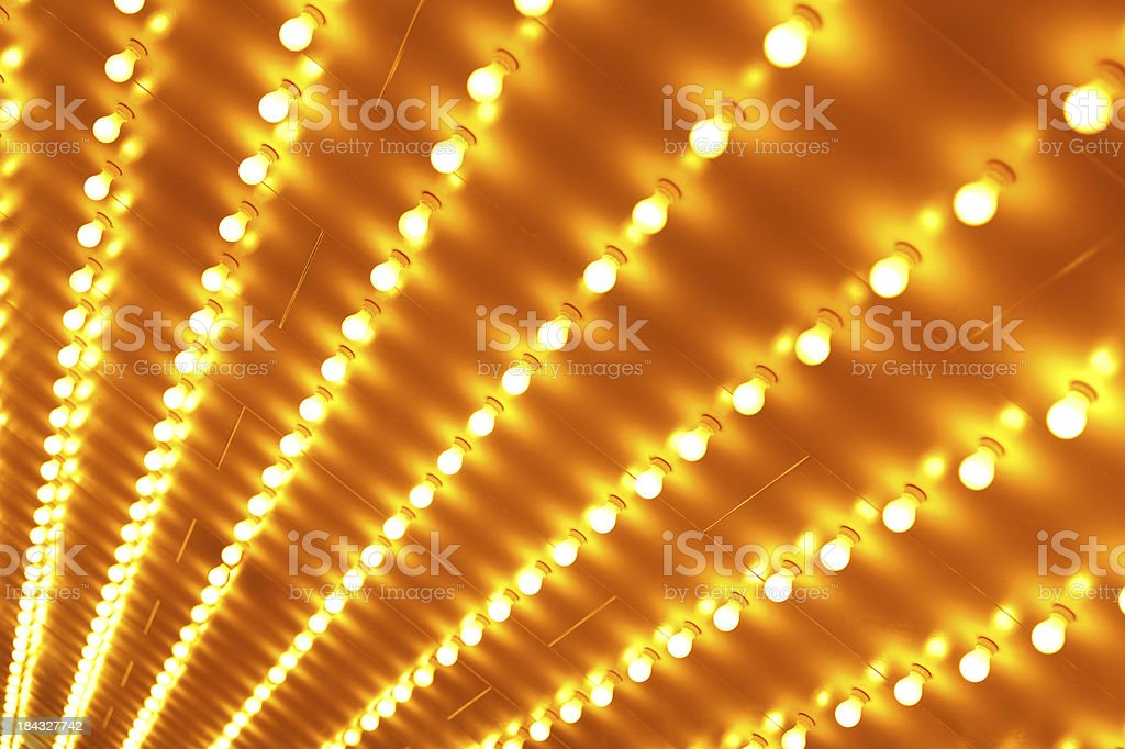 Theater Sign Lights Background stock photo