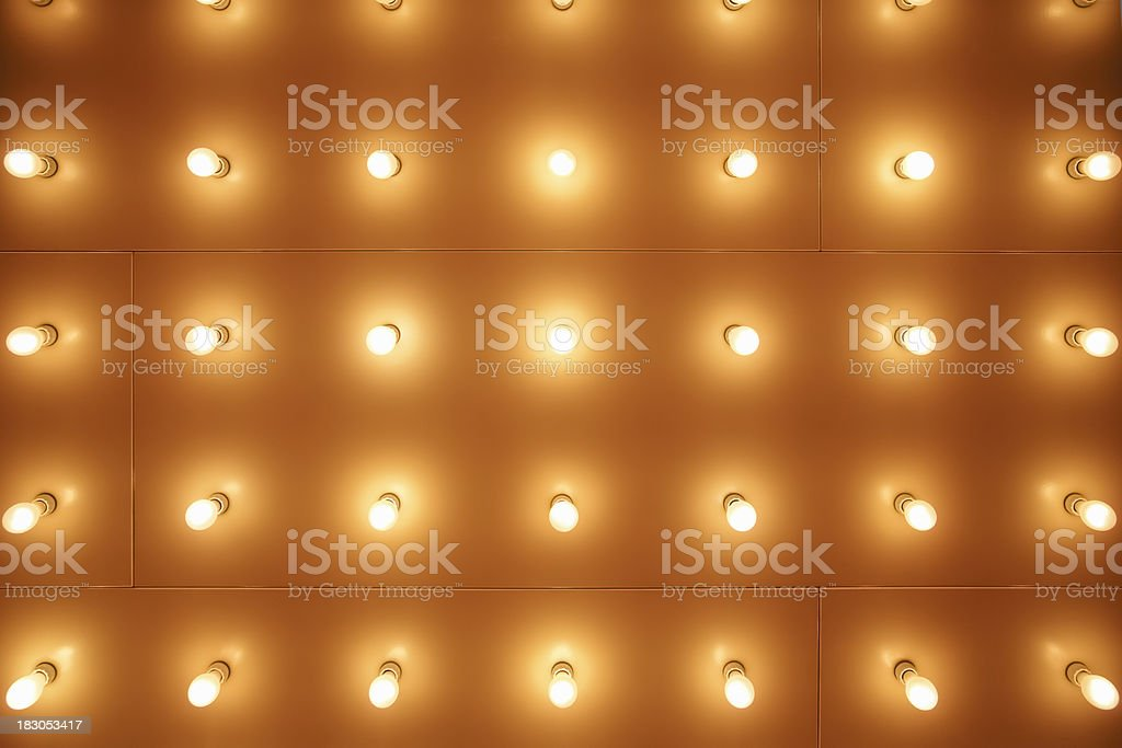 Theater Sign Marquee Lights stock photo