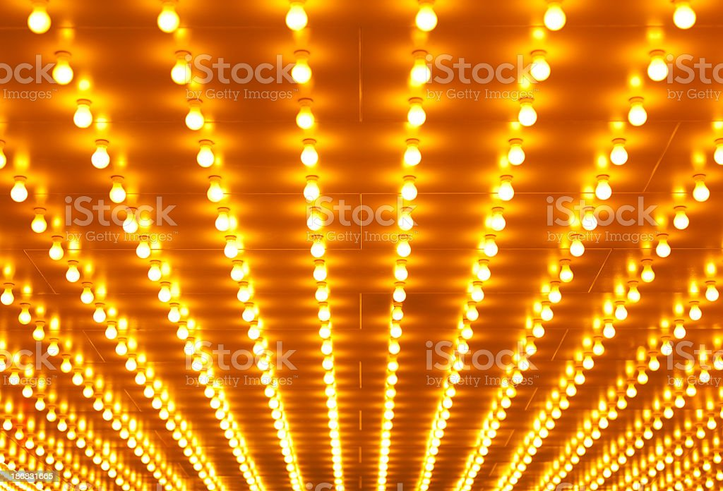 Theater sign neon lights background stock photo