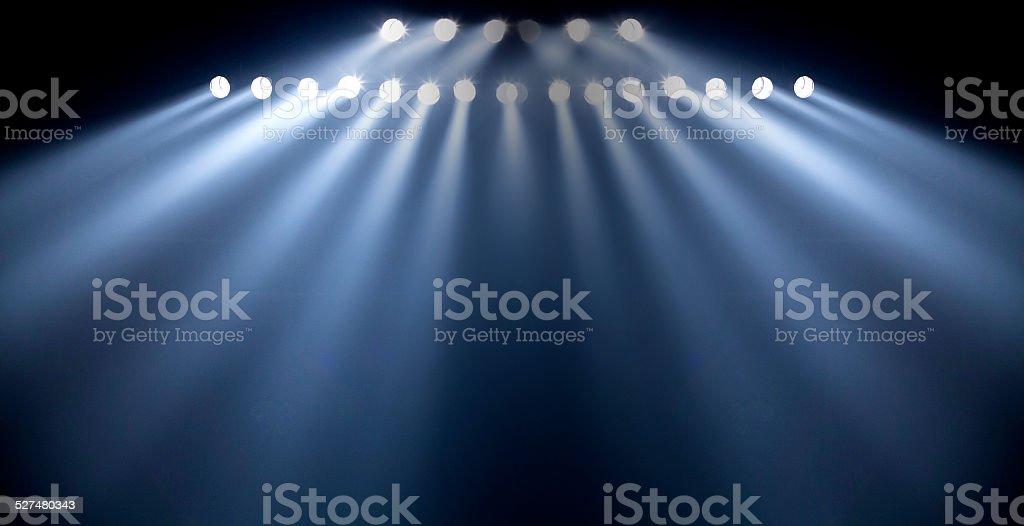 theater spot light on black background