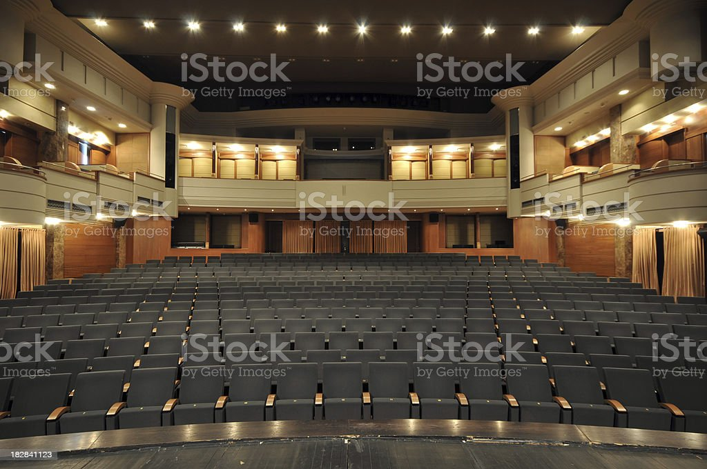 Theater stage stock photo