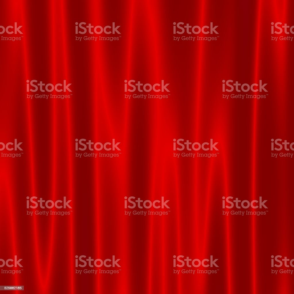 Theater Stage with Red Velvet Curtains. Artistic Abstract Wave Effect. stock photo