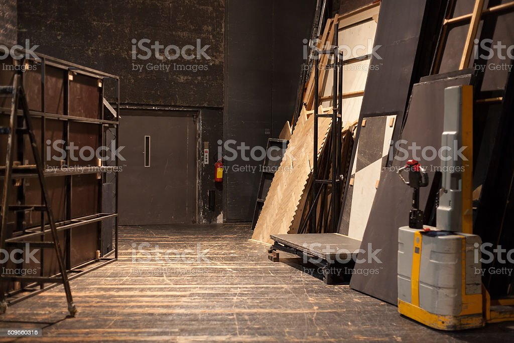 theater storage space stock photo