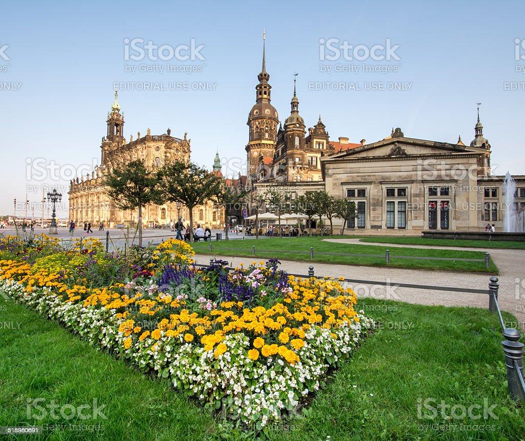 Theaterplatz Dresden stock photo