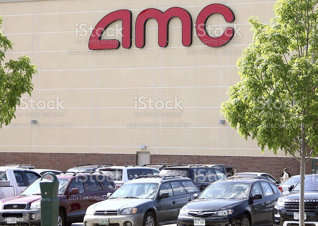 AMC Theaters Parking Lot stock photo