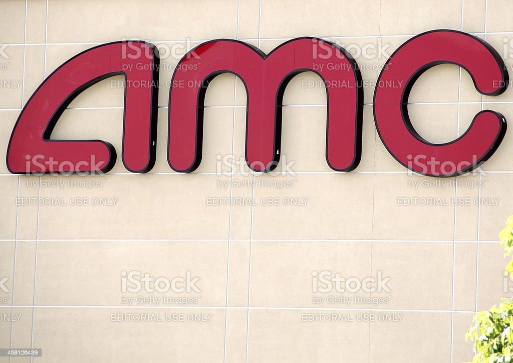 AMC Theaters Sign stock photo