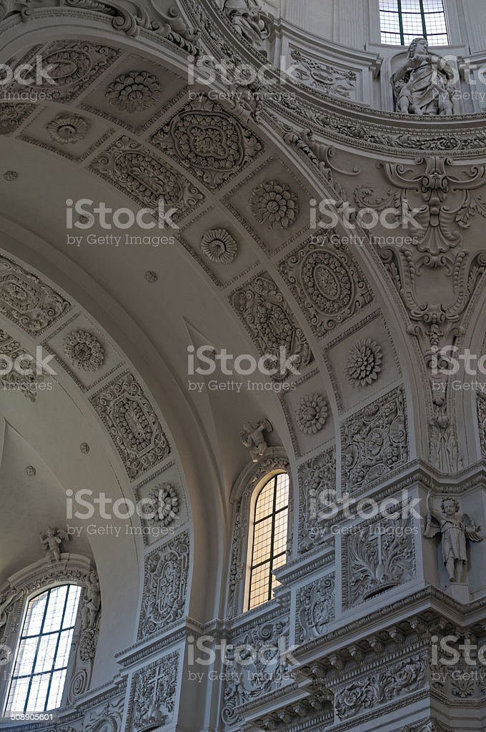 Theatine Church Inerior Munich stock photo