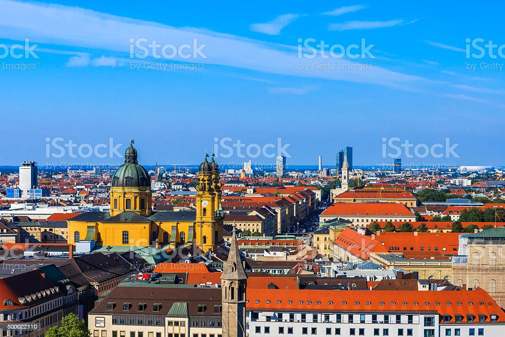 Theatine Church, Munich, Bavaria, Germany stock photo