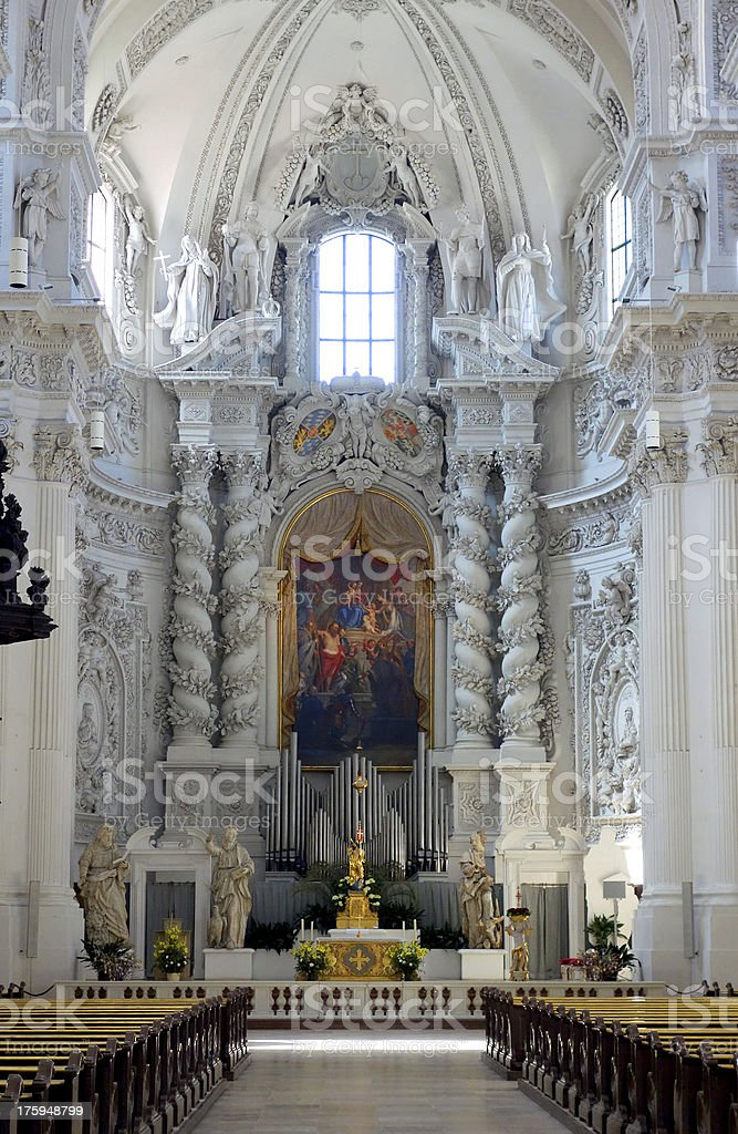 Theatine Church, Munich stock photo
