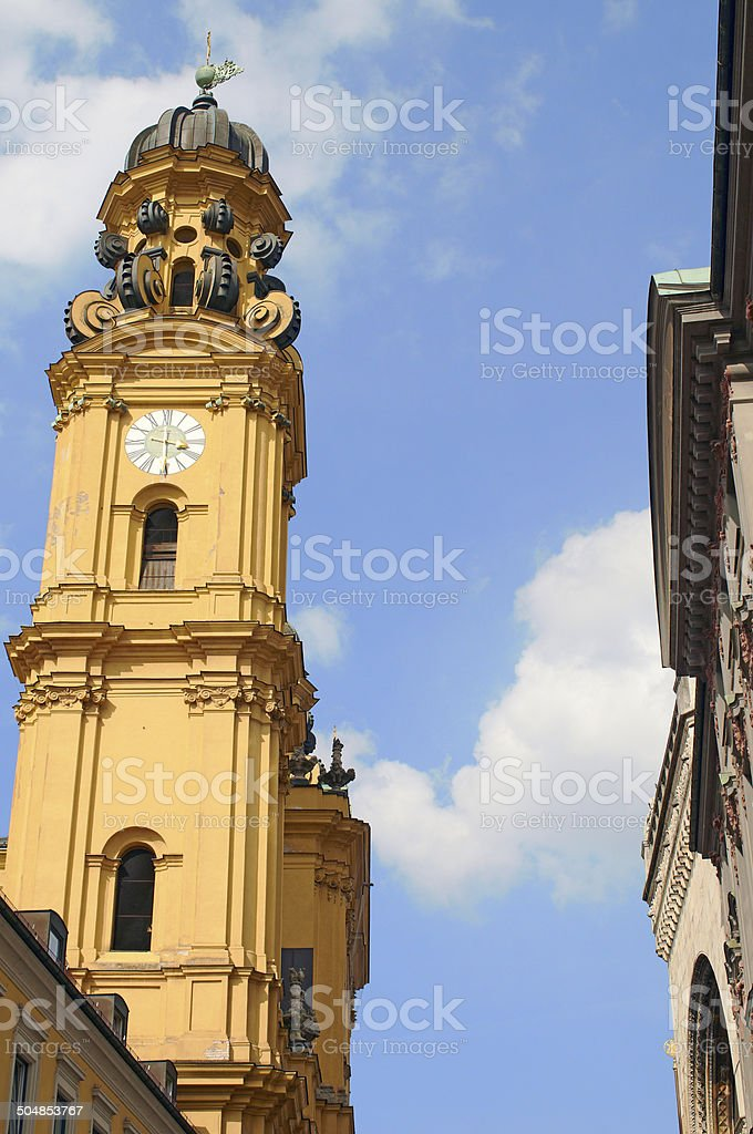 Theatine Church Munich stock photo