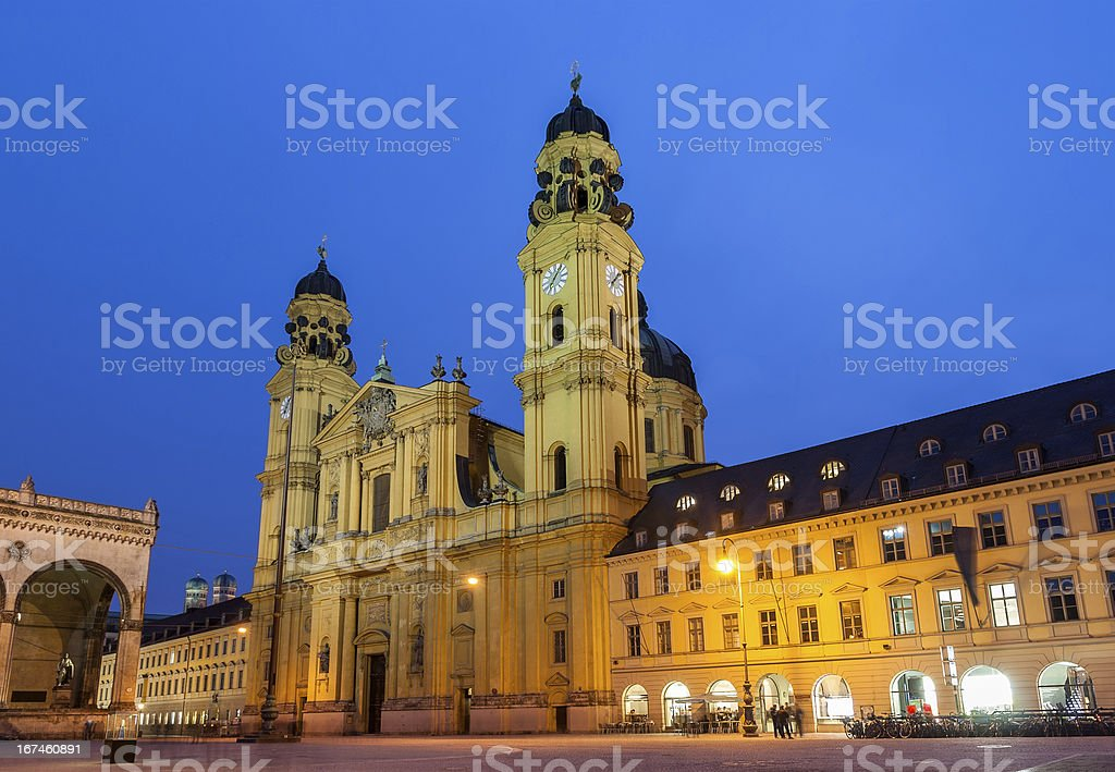 Theatine Church of St. Cajetan in Munich - Germany stock photo