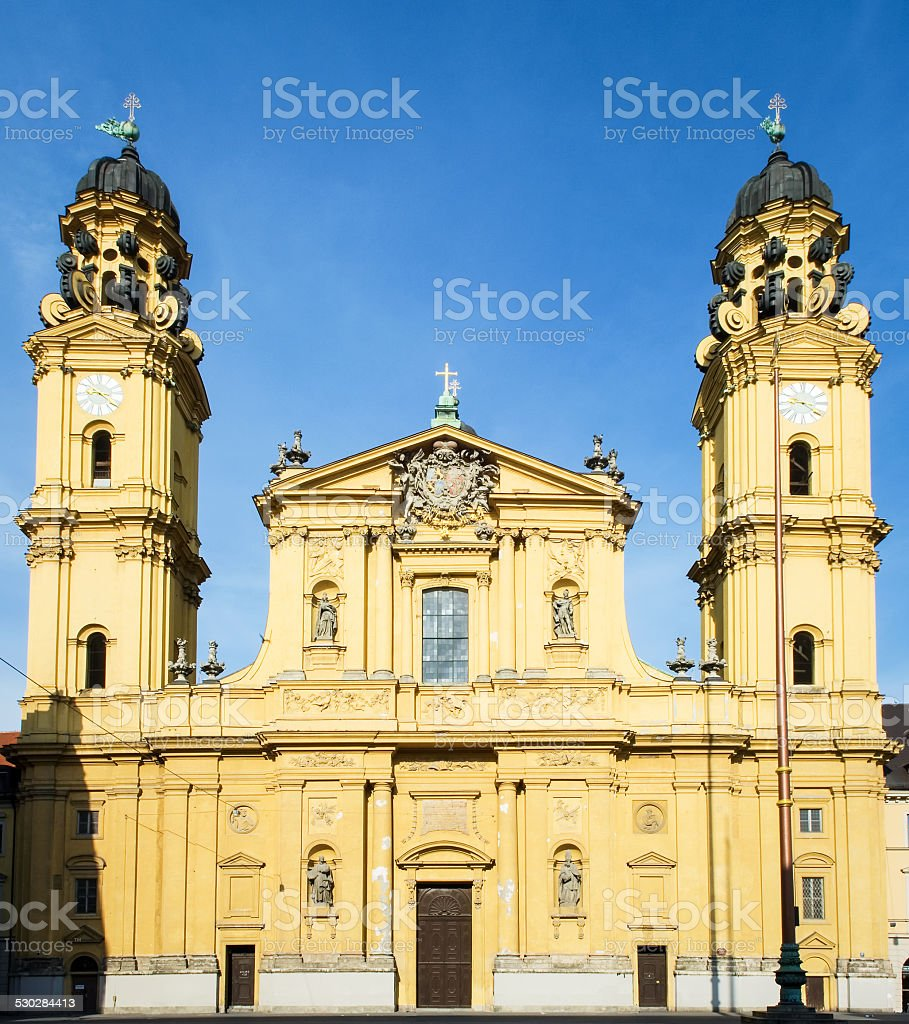 theatiner church in munich stock photo