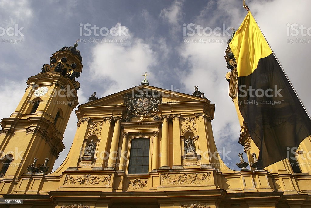 Theatinerkirche in M?nchen stock photo