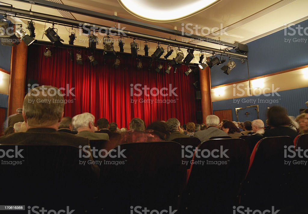 theatre audience royalty-free stock photo