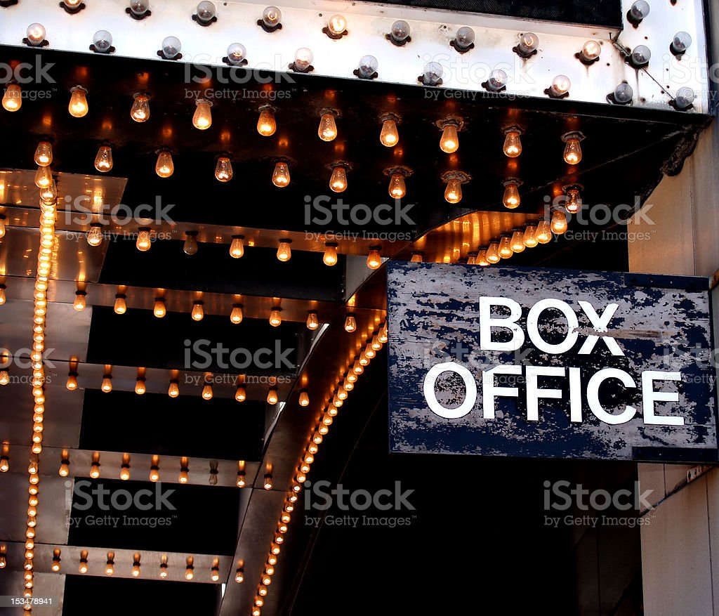 Theatre Box Office royalty-free stock photo
