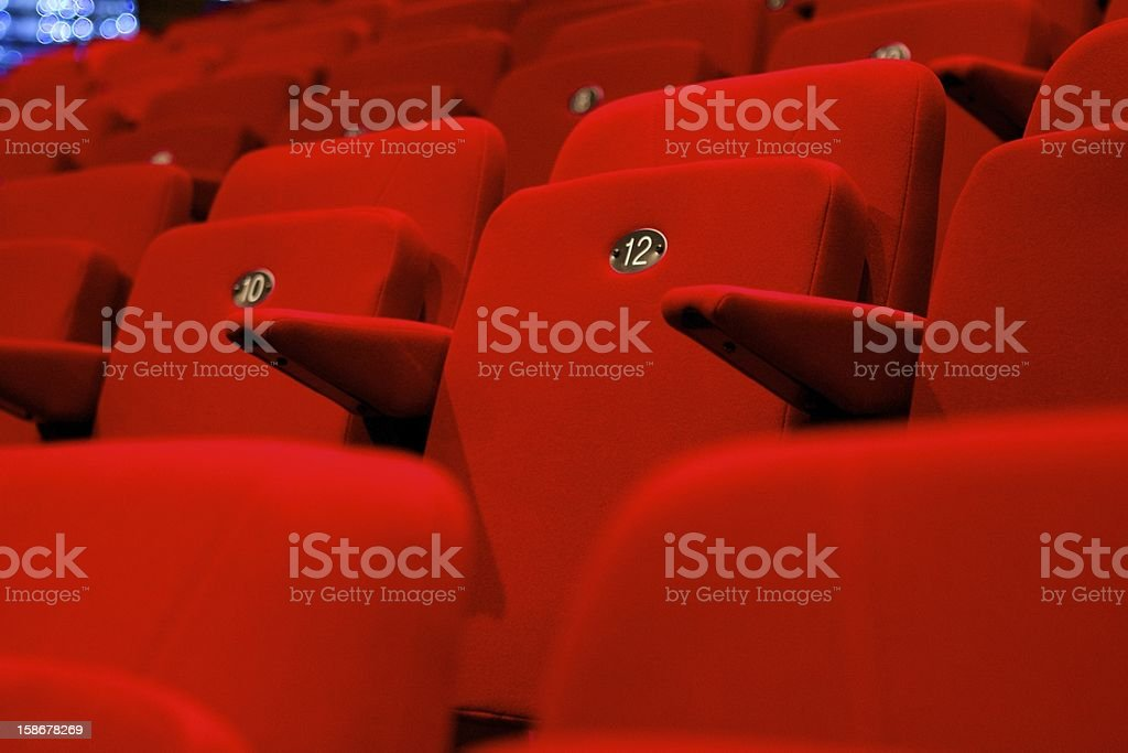 Theatre Chairs stock photo