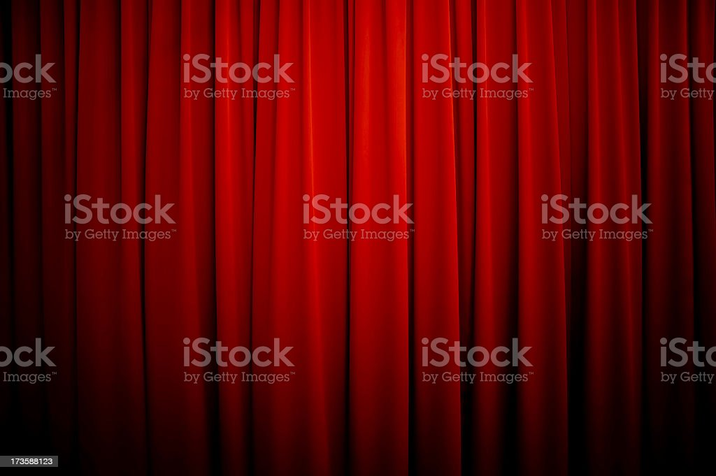 Theatre Curtains Background stock photo